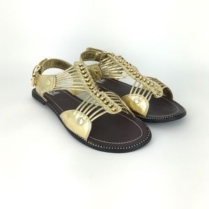 Kalli Gold Gladiator Sandals